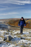 09-8695 Hill Walker in Winter Cronkley Fell Upper Teesdale County Durham.